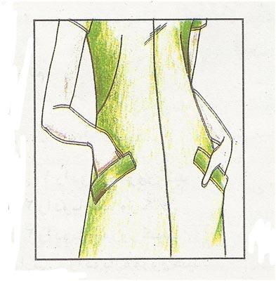 جیب توی لباس با دهانه ی جداگانه