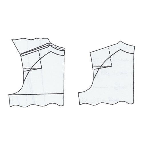 آموزش رسم الگوی پیراهن با آستین رگلان فانتزی