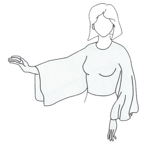 آستین کلوش فانتزی (دستمالی)