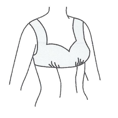 رسم الگوی پیراهن زنانه با برش زیر سینه و یقه دلبری