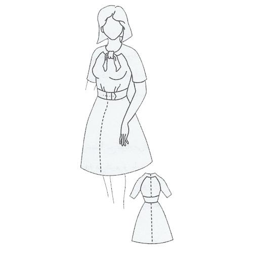 آموزش رسم الگوی پیراهن شب، الگوی لباس ساده زنانه