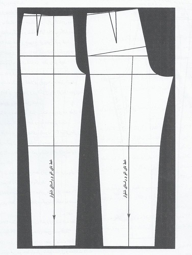 دوخت شلوار با رسم الگوی مولر