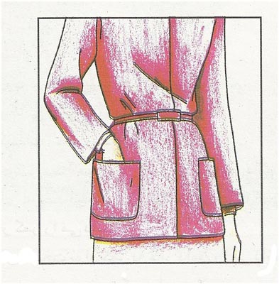 آموزش مدل جیب روی لباس